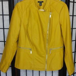 Alfani Faux Leather Moto Jacket Size Medium